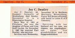 Joy C. <i>Layton</i> DeAtley