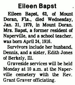Eileen <i>Jones</i> Bapst
