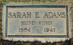 Sarah E <i>Burke</i> Adams
