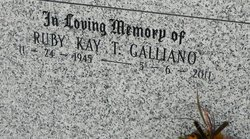 Ruby Kay Marie <i>Terrebonne</i> Galliano