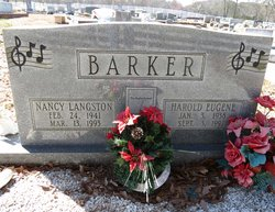 Nancy Carol <i>Langston</i> Barker