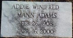 Addie Winifred <i>Mann</i> Adams