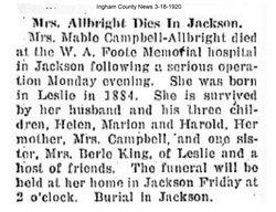 Mabel Dorcas <i>Campbell</i> Albright