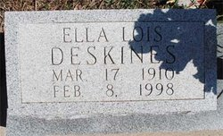 Ella Lois <i>McMillan</i> Deskines