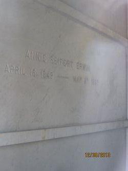 Annie <i>Seifert</i> Erwin