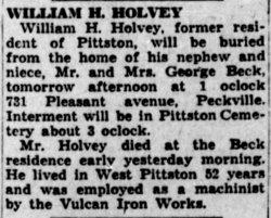 William Henry Holvey