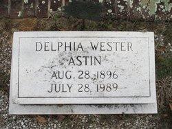 Delphia <i>Wester</i> Astin