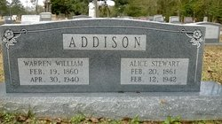Alice E. <i>Stewart</i> Addison