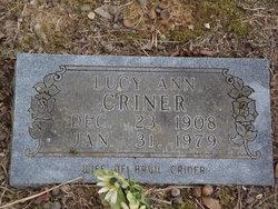 Lucy Ann <i>HEFLEY</i> Criner