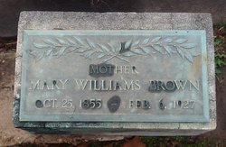 Mary Williams <i>Johnson</i> Brown