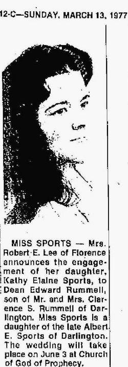 Kathy Elaine <i>Sports</i> Rummell