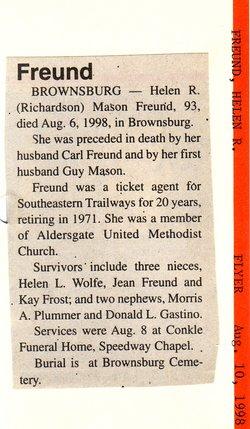 Helen R <i>Richardson</i> Freund