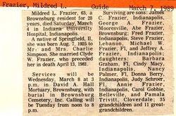 Mildred L Frazier