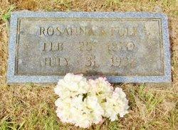 Rosanna S. <i>Tansill</i> Fulk