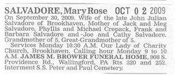 Mary Rose <i>Breen</i> Salvadore