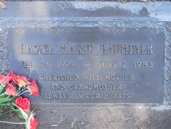 Hazel Marie <i>Whitaker</i> Baumfalk