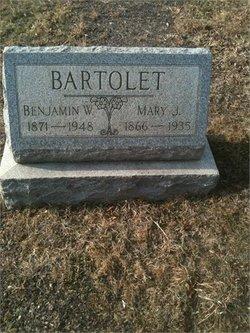 Mary J <i>Reed</i> Bartolet