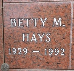 Betty M. <i>Hubbard</i> Hays