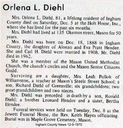 Orlena L. <i>Hendee</i> Diehl