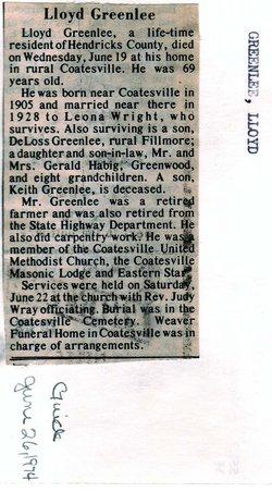 Lloyd F Greenlee