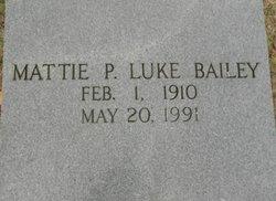 Mattie B. <i>Luke</i> Bailey