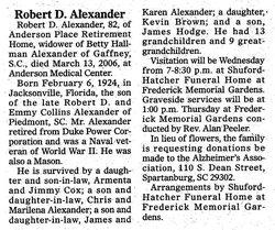 Robert D Alexander