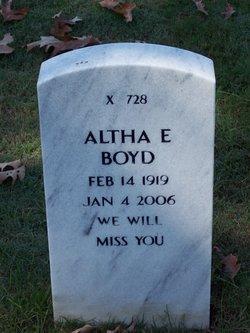 Altha E Boyd