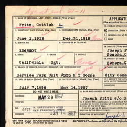 Gottlob A. Robert Bob Fritz, Jr