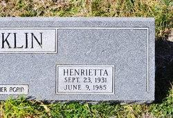 Henrietta Marie Henri <i>Benad</i> Locklin