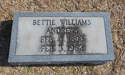 Bettie Clyde <i>Williams</i> Andrews