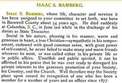 Capt Isaac S. Bamberg