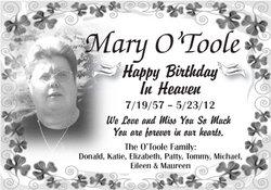 Mary E Mar O'Toole
