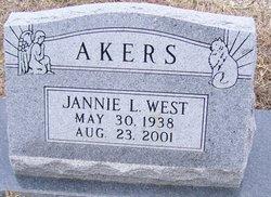 Jannie Lynn <i>West</i> Akers