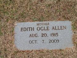 Edith Elizabeth Babe <i>Ogle</i> Allen