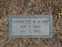 Hariette Marie <i>Woodall</i> Autry
