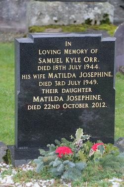 Matilda Josephine Tillie <i>McDermott</i> Orr