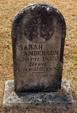 Sarah Sally <i>Webb</i> Anderson