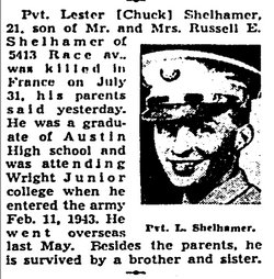 Pfc. Lester (Chuck) Shelhamer