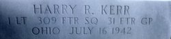 1Lt Harold R Harry Kerr