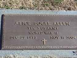 Alice <i>Bogle</i> Allen