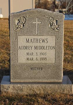 Audrey Elizabeth <i>Middleton</i> Mathews