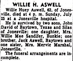 Willie Huey Aswell