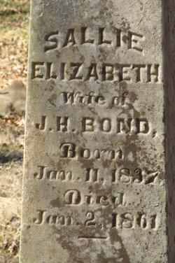 Sarah Elizabeth Sally Bond