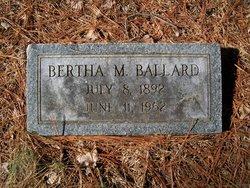 Bertha Mildred <i>Grisham</i> Ballard
