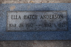 Ella <i>Hatch</i> Anderson