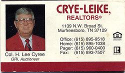 Horace Leon Lee Cyree