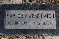 Marjorie <i>Webb</i> Hatch