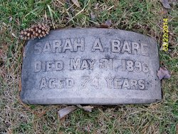 Sarah A <i>Caldwell</i> Bare
