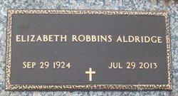 Elizabeth <i>Robbins</i> Aldridge