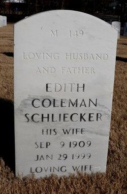 Edith Mae <i>Coleman</i> Schliecker